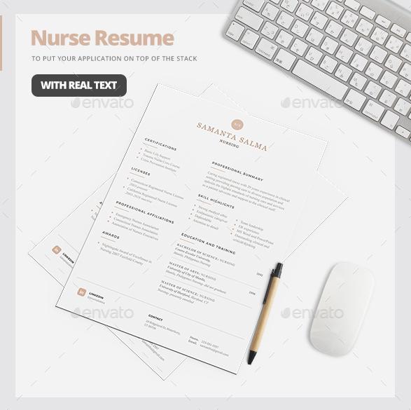 Layered Nursing Resume Template