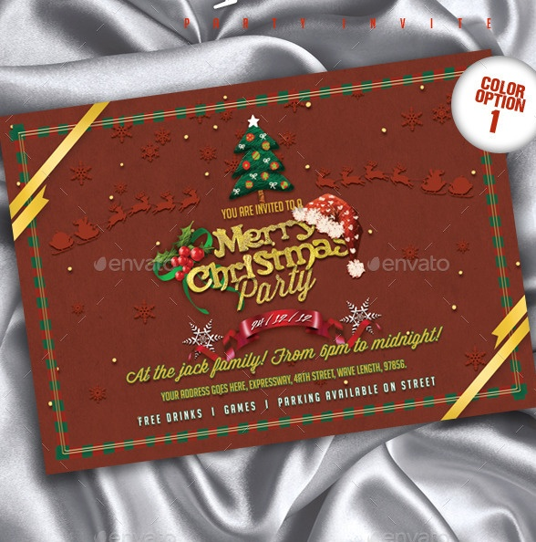 Layered PSD Party Invitation Template