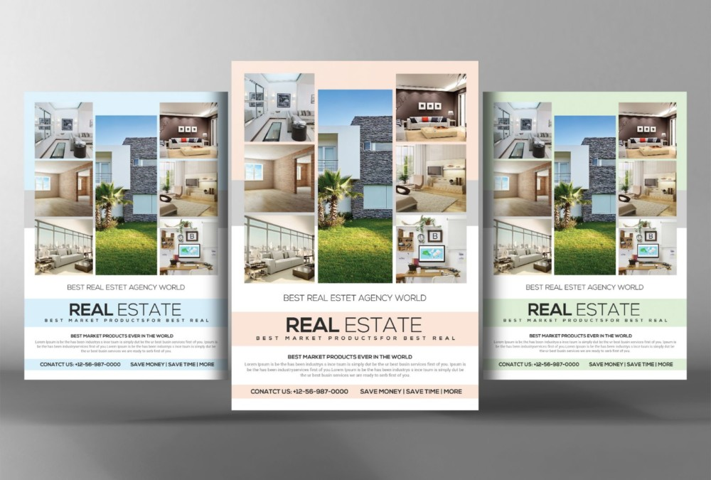 Layered Real Estate Flyer Template