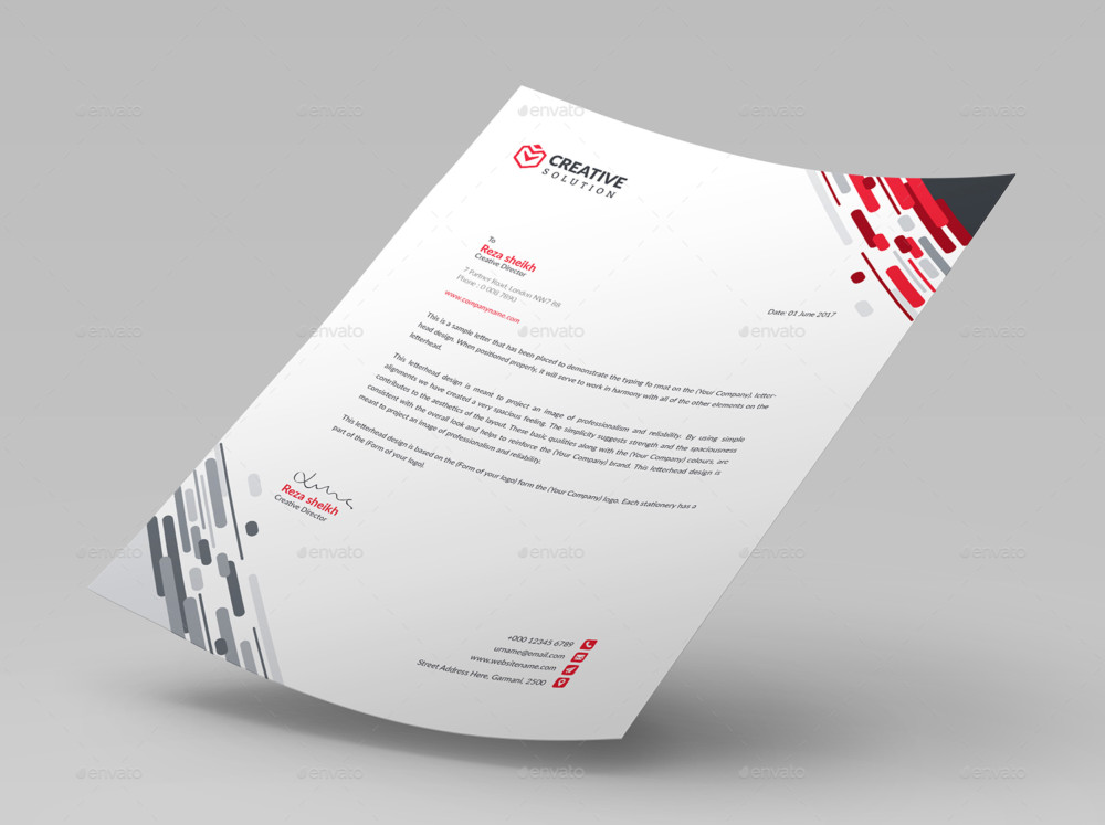 Business Letter Head Templates LetterHead_Image corporate letter head simple clean business