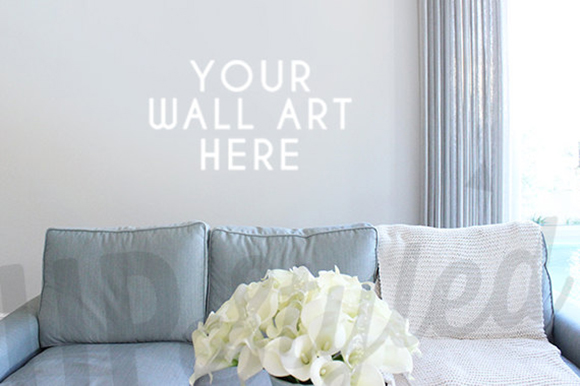 Living Room wall Art Mockup PSD