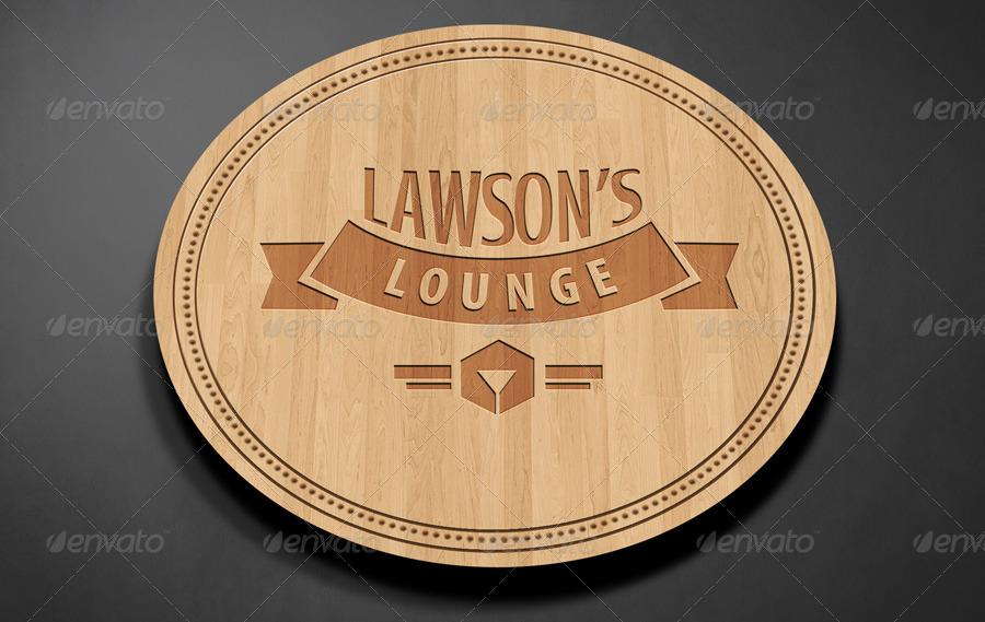 Lounge Logo Mockup PSD