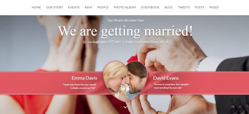 Love Wedding WordPress Theme