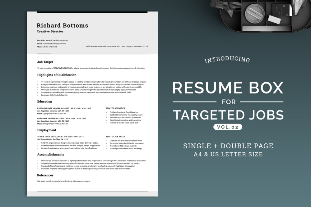 MS Word Chronological Resume Template