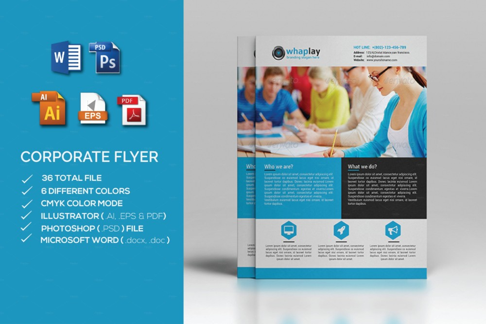 MS Word Corporate Flyer Template