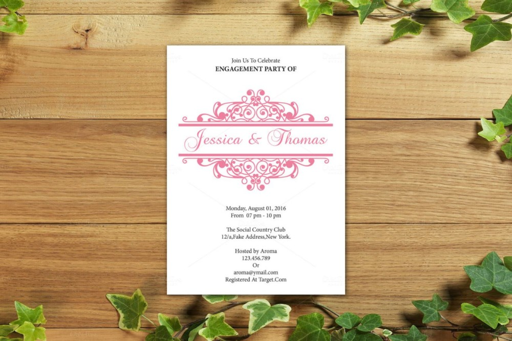 MS Word Dinner Invitation Template