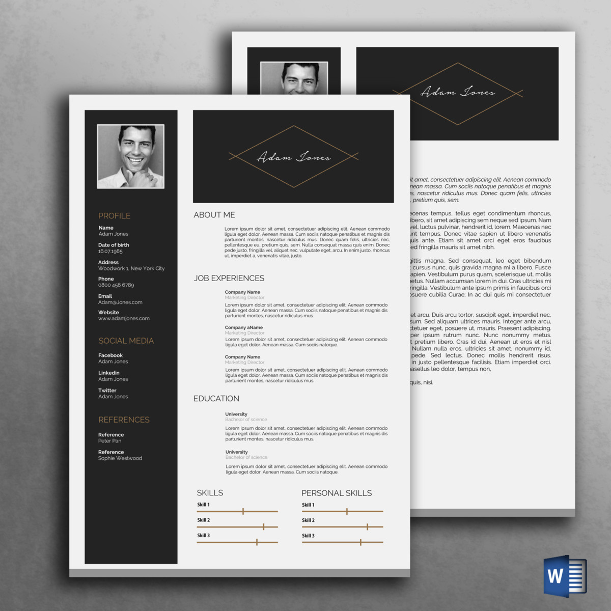 ms word sales resume template graphic cloud