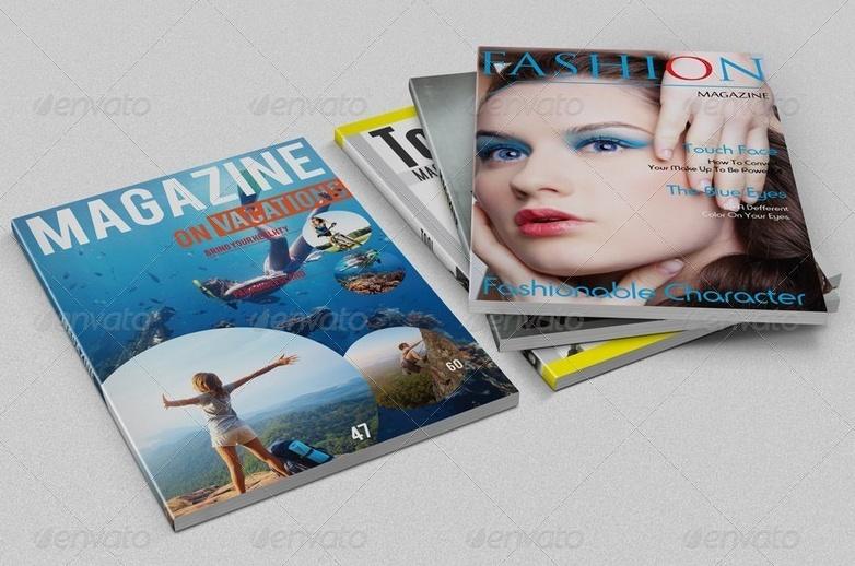 Magazine Cover PSD Mockup