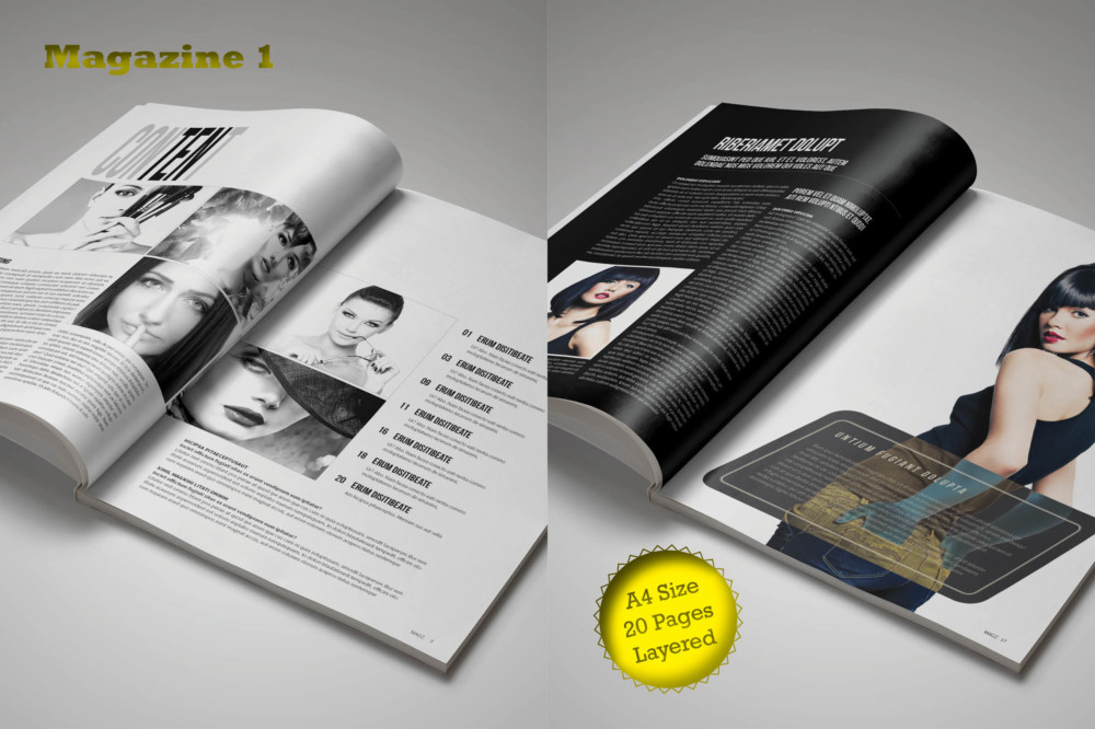 Magazine Template Word Format Bundle