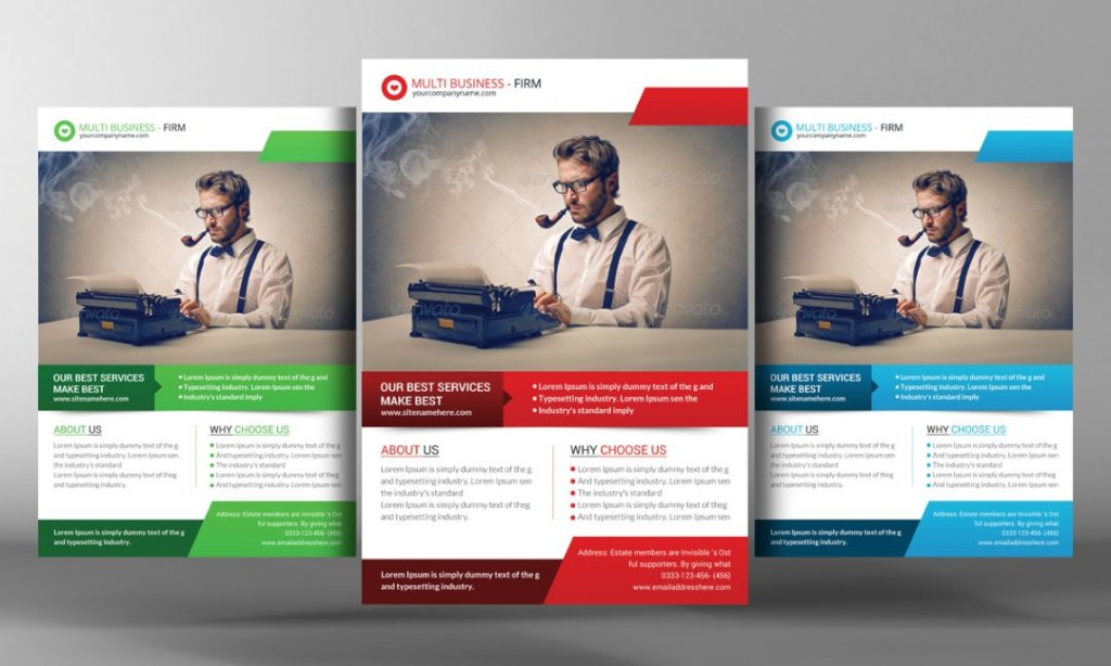 Marketing PSD Flyer Template