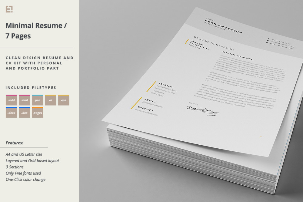 Minimal Cover Letter Template