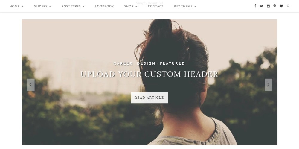 Minimal Landing Page WordPress Theme