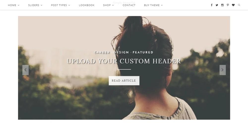Minimal Landing Page WordPress Theme