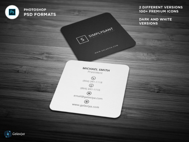 Minimal Square Business Card Template