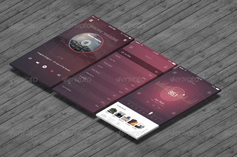 Mobile App Presentation Mockup