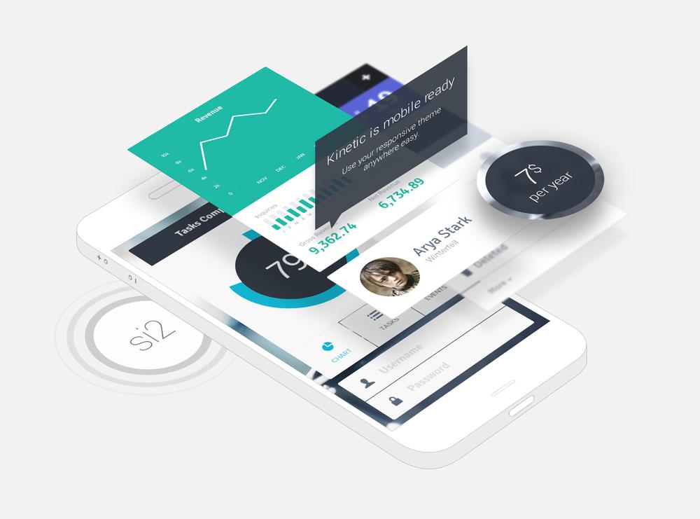 Mobile Phone App Mockup PSD