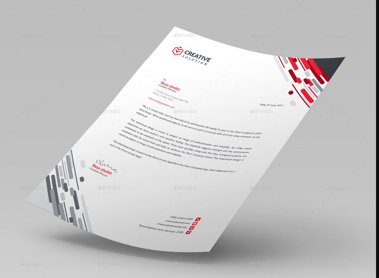 Modern Business Laetter Template