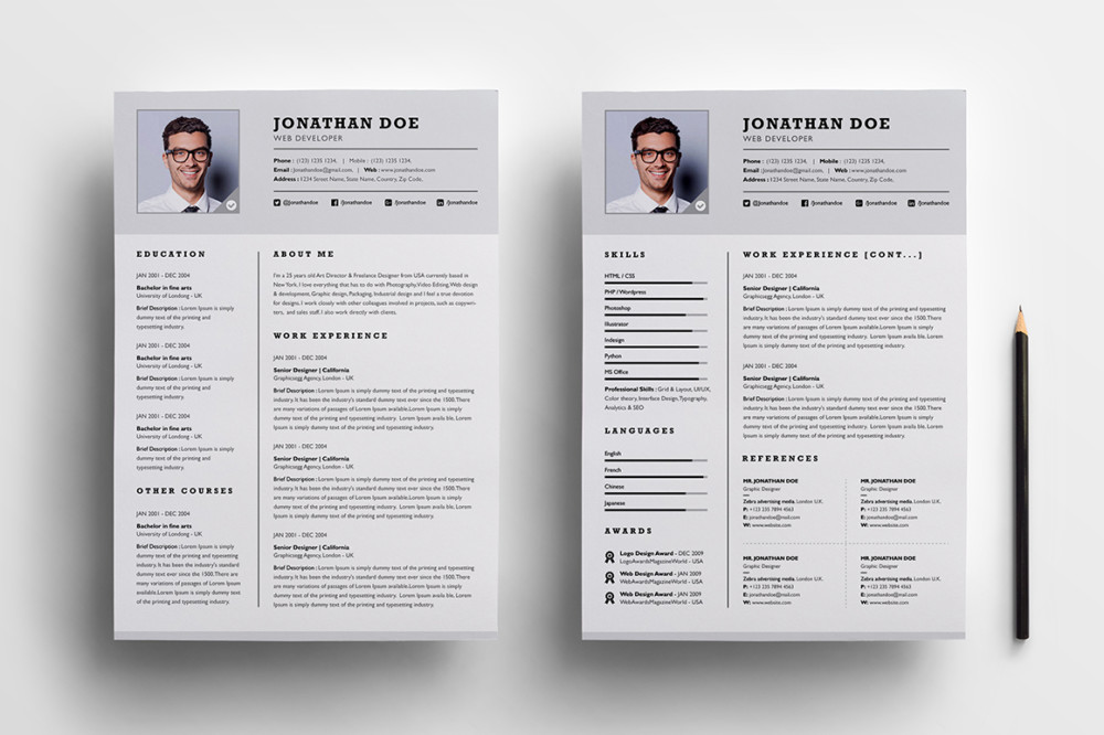 20 business resume template word psd eps and ai format graphic cloud