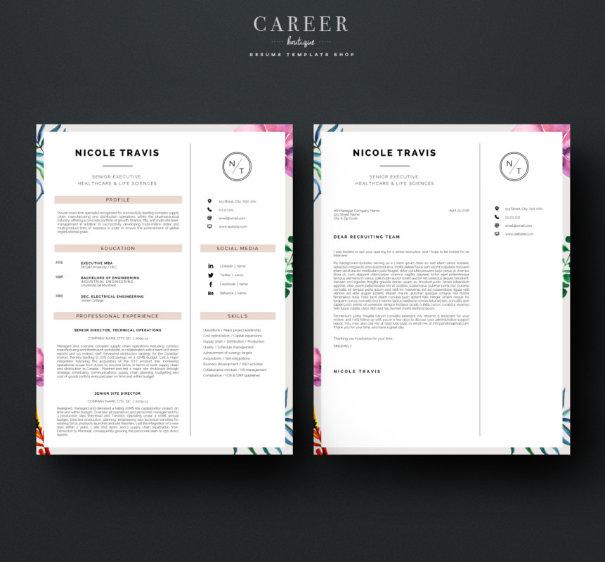 Modern Cover Letter Template Word