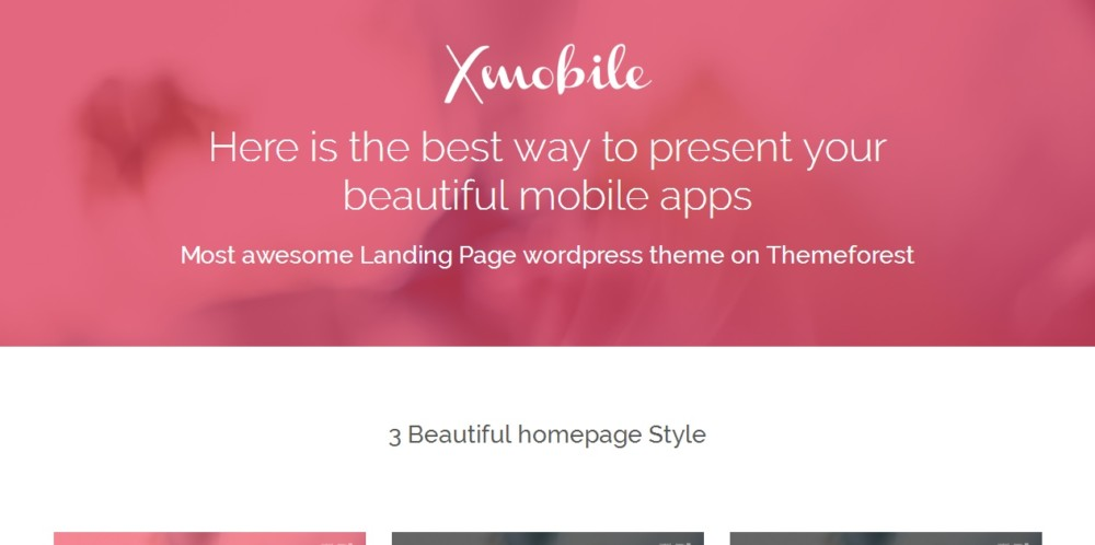 Modern Landing Page WordPress Theme