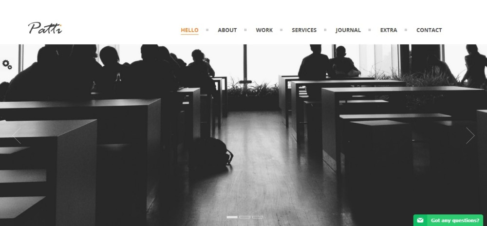 Modern One Page WordPress Theme