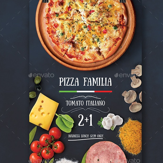 Modern Pizza Flyer Template