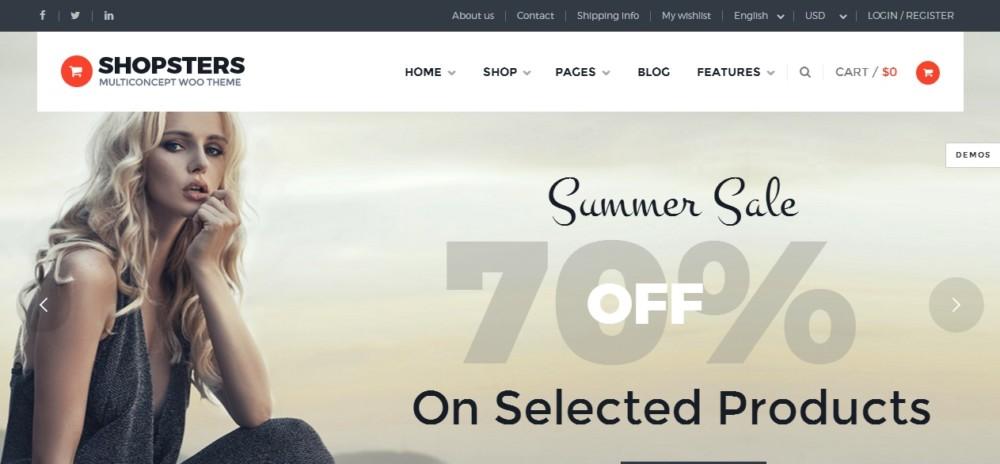 Modern wordpress eCommerce Theme