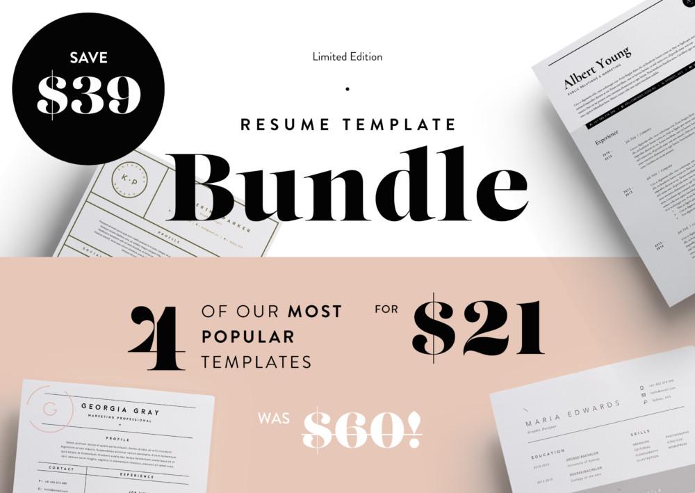 most popular resume templates bundle graphic cloud