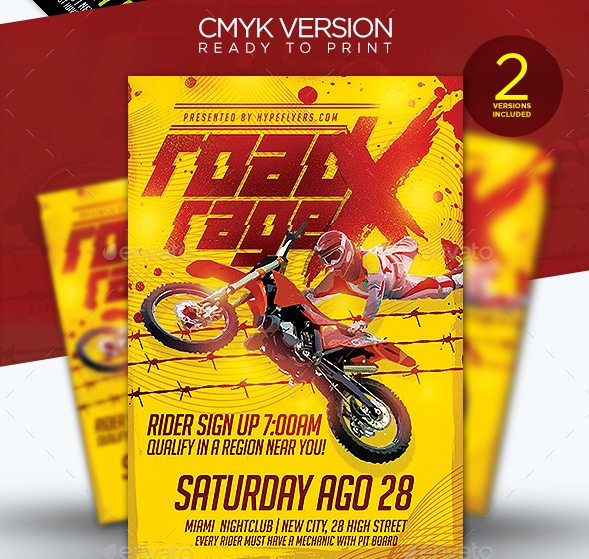 Motorcycle Event Flyer Template