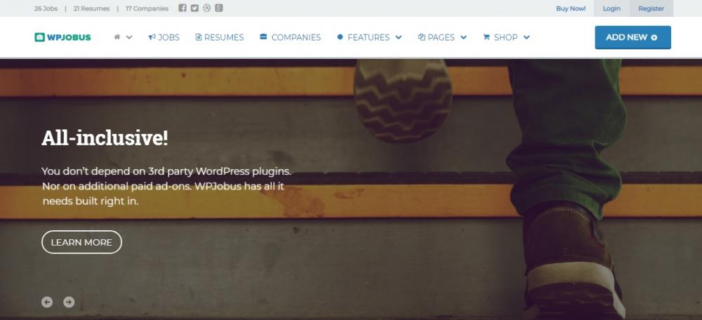 Multi Language Job WordPress Theme
