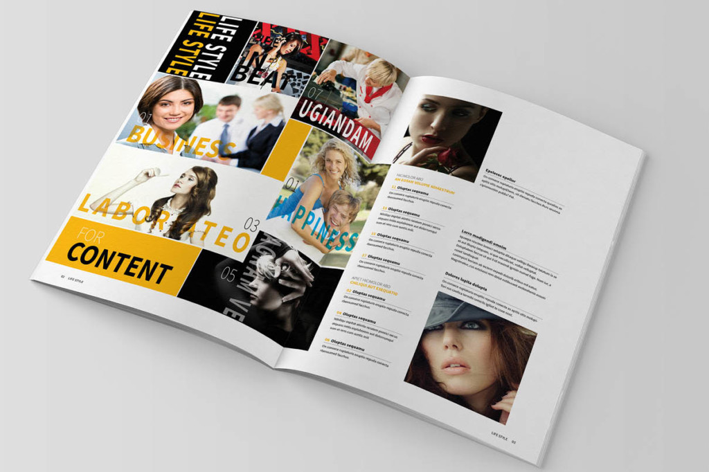 Multipurpose Magazine Template Word