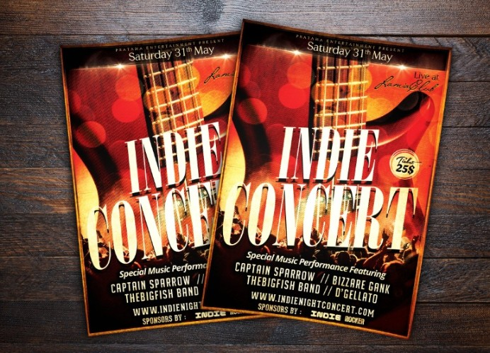 Music Concert Flyer Template PSD