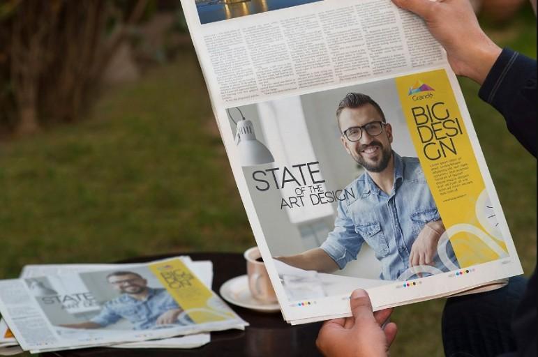Newspaper Ad Mockup PSD