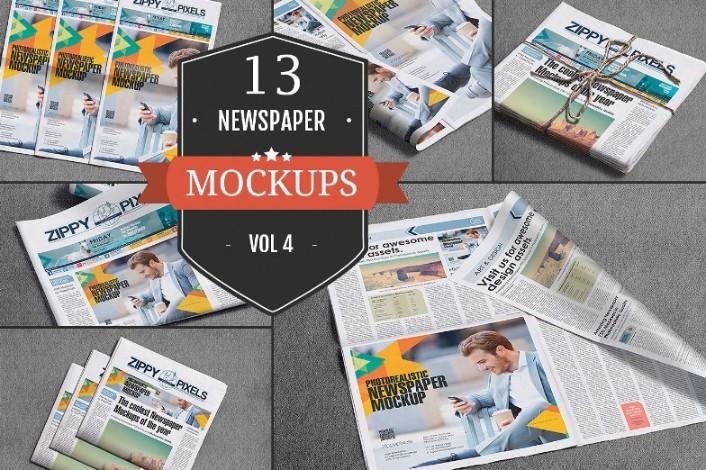 Newspaper Advertisement Mockup PSD