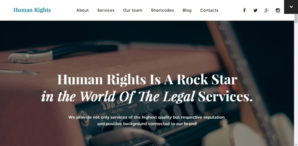 One Page Legal Services WordPress Theme