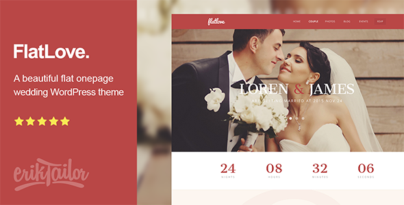 One Page Wedding WordPress Theme