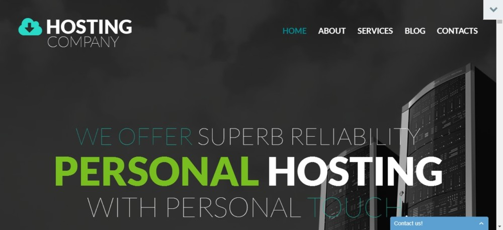 Oner Page Hosting WordPress Theme