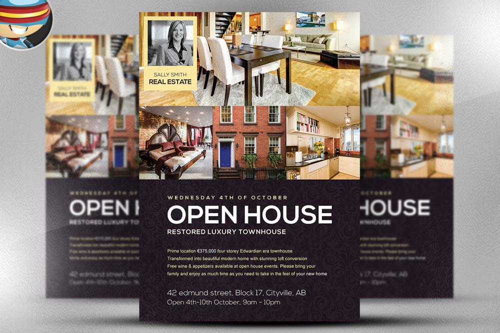 Open House Sale Flyer Template PSD