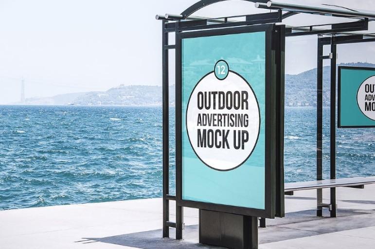 Outdoor Advertisement Mockup PSD