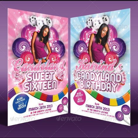 PSD Birthday Invitation Template