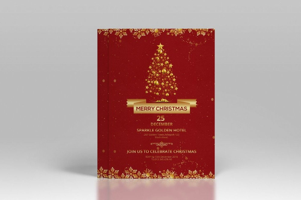 PSD Christmas Invitation Template