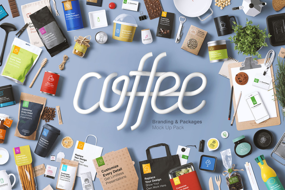PSD Coffee Branding Mockup