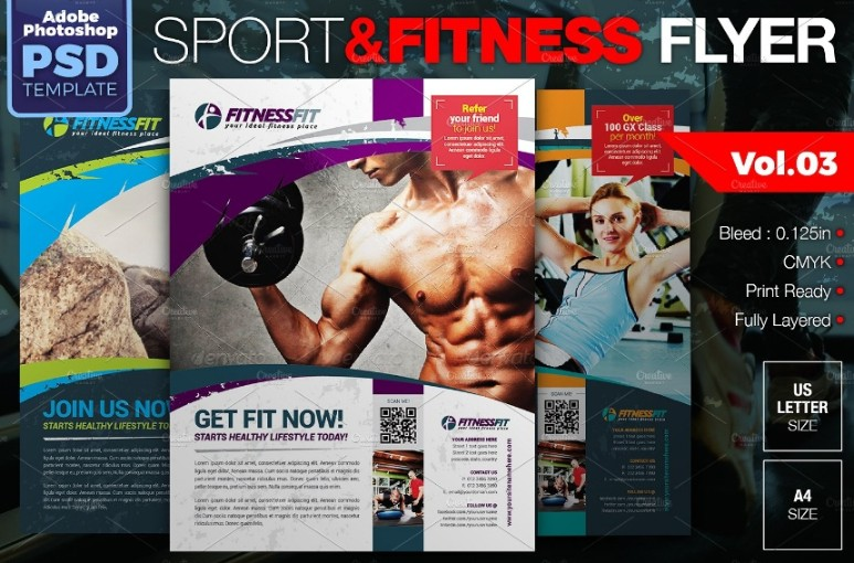 PSD Fitness Flyer Template
