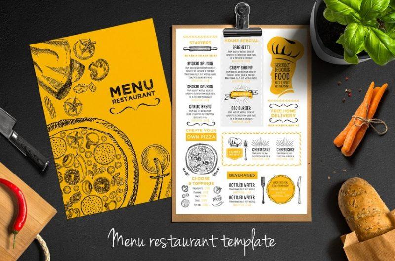 PSD Restaurant Menu Template
