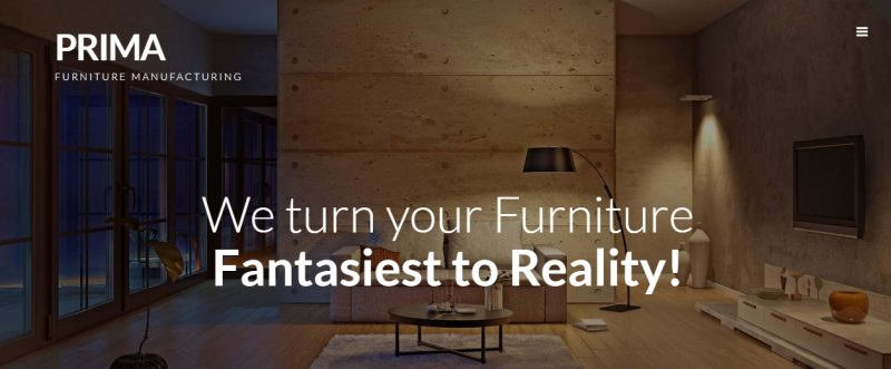 Parallax Furniture WordPress Theme