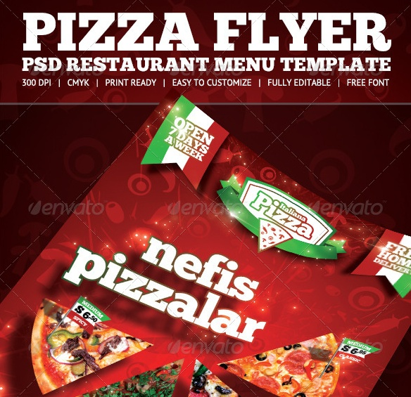 Pizza Menu Flyer Template
