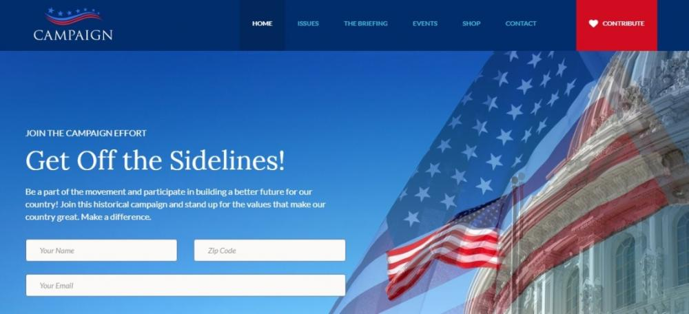 Political Event WordPress Theme