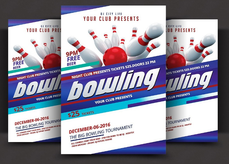 Professional Bowling Flyer Template