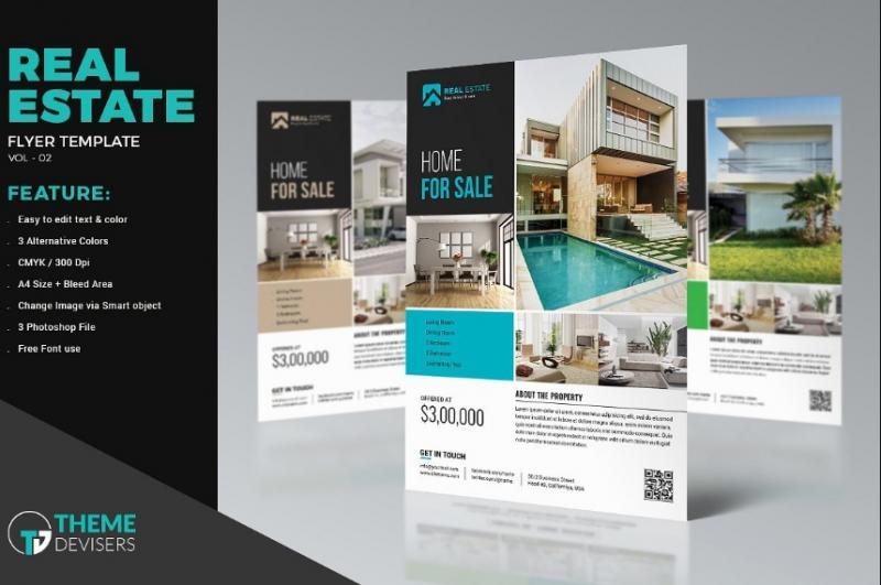 Real Estate Ad Flyer Template