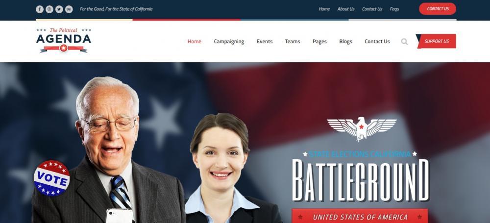 Responsive Political WordPress Theme